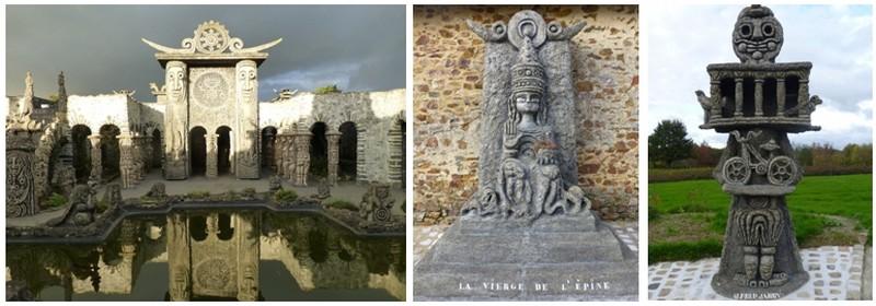 Robert Tatin a soixante ans quand il commence la plus spectaculaire de ses œuvres, une sculpture monumentale où symboles et mythes guident ses ciseaux et sa truelle (Crédit Photo Catherine Gary) .