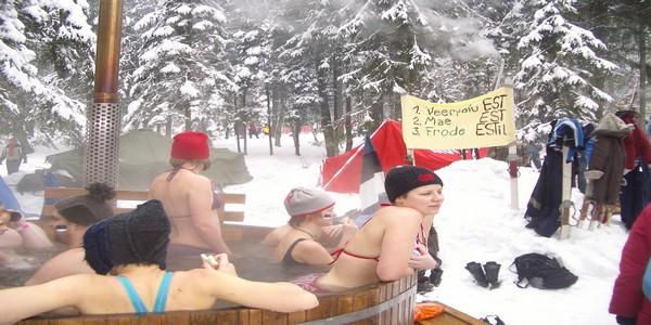 l'Europe s'est donné rendez-vous à Otepää pour participer au Marathon des saunas (Crédit photo OT d'Estonie)
