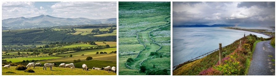 Depuis plus de 20 ans, l'équipe franco-irlandaise d'Alainn Tours met à votre service son expérience acquise lors de nombreux périples sur les routes celtes. Après son succès en Irlande, son développement en Ecosse, Alainn Tours étoffe sa gamme de voyages sur le pays de Galles (Photos Tourisme Ireland).