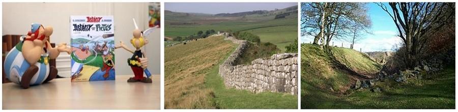 Sur les traces des Pictes. Un voyage de 12 jours riche en aventures et l'occasion de découvrir les sites des batailles de Pictes qui tentaient d'envahir l'Ecosse : le Mur d'Hadrien dans les Scottish Borders, puis vous vous dirigerez le  long de la fameuse ligne du Mur d'Antonin. (Photos DR)