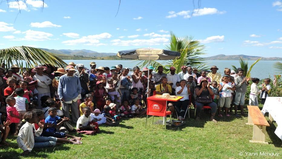 """Dernière étape de la randonnée solidaire """" La marche de la lumière """" à Madagascar (Crédit photo Yann Menguy)"""