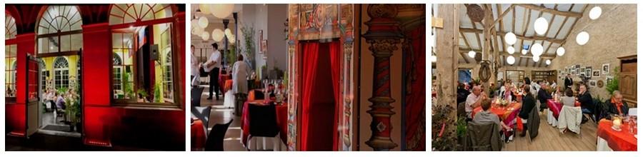 """Trois espaces vosgiens où se sont déroulé les """"dîners insolites"""" (Photos 1 et 2 Crédit photo DR, Photo  3 crédit photo J.F Hamard)."""