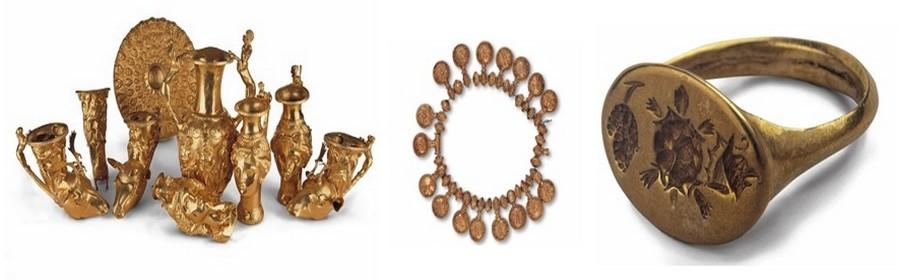 Les Thraces furent les premiers orfèvres du monde, travaillant l'or de façon hors pair. On peut en voir les merveilles aux musées de Varna, sur le mer Noire et au musée National d'Histoire de Sofia.(Crédit photos DR)