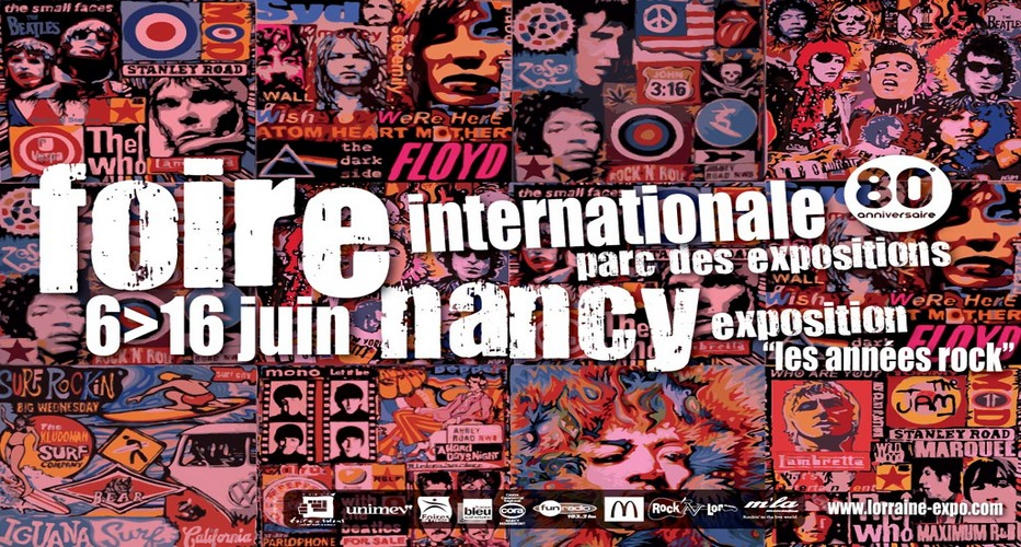 Affiche de La Foire Internationale de Nancy au diapason du Rock'n'roll. (Photo crédit D.R)