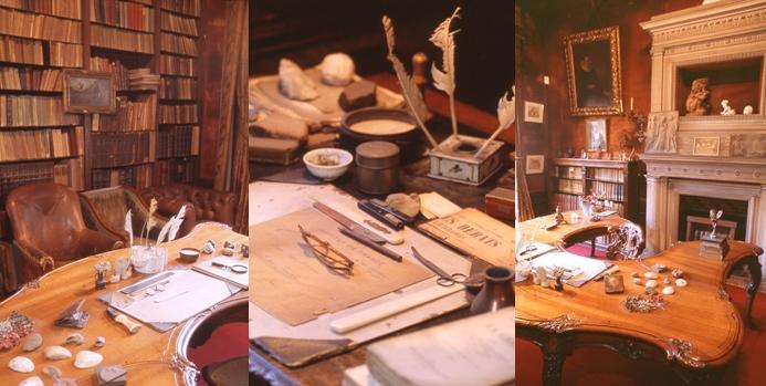 Différentes photos du bureau de Clemenceau.(Crédit S.Ageorges et musée Clemenceau)