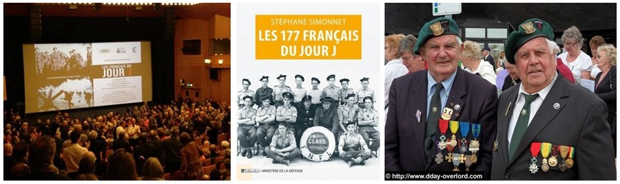 René Rossey à droite sur la photo, membre du Commando Kieffer a foulé pour la première fois le sol français le 06 juin 1944 à 17 ans. (Crédit photo D.R.).