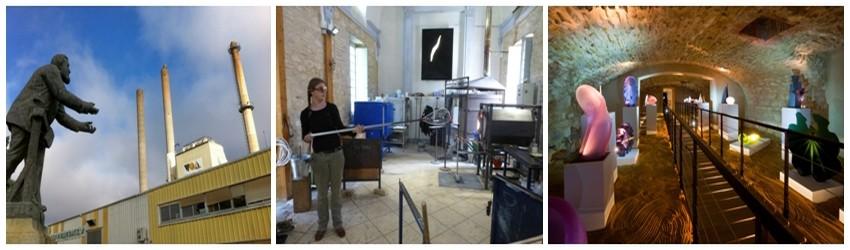 Jaurès mène ses premiers combats à Carmaux. La verrerie Sainte Clotilde est devenue un Musée de l'histoire verrière ainsi qu'un Centre de création. La VOA, usine de fabrication de bouteilles, se visite à Albi. (Crédit photos Catherine Gary)