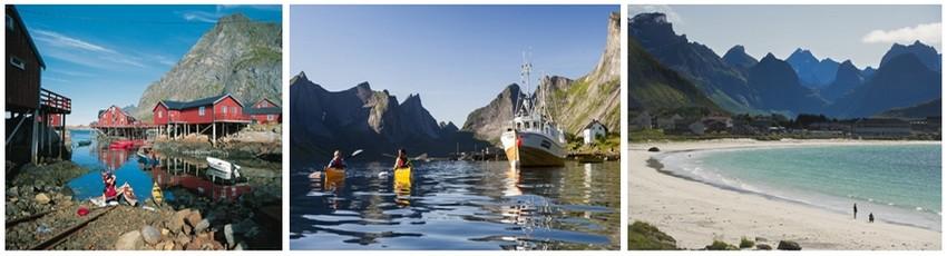 La pêche à la morue constitue encore l'activité principale des îles Lofoten. Chaque hiver, de nombreux pêcheurs viennent de tout le nord de la Norvège pour pêcher d'énormes quantités de poissons qui seront ensuite salés et séchés à l'air libre (Crédit photo Tourism Norway)