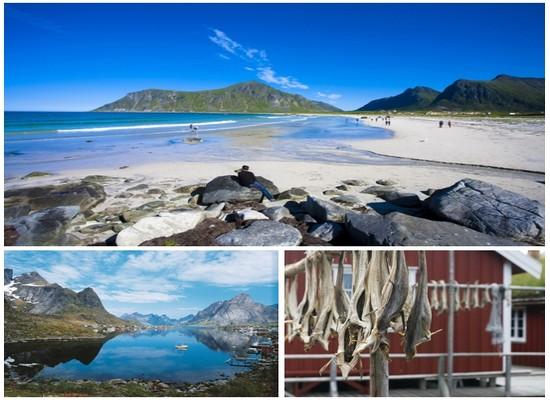 Ces îles septentrionales du nord de l'Europe aux eaux turquoise et cristallines sont réputées pour leur pêche abondante, la beauté de leur paysage naturel et leurs petits villages croquignolets (Crédit photos Tourism Norway)
