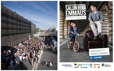 La foule était nombreuse devant les portes du Parc des Expositions à paris lors de la 14ème édition du Salon solidaire Emmaüs en 2013. Il est certain qu'il en sera de même pour cette nouvelle édition (Crédit photos DR)