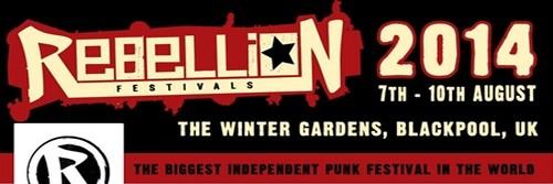 Un mouvement Punk toujours bien vivace (Logo Festival www.rebellionfestivals.com)