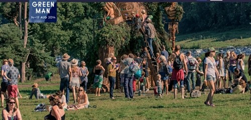 Green Man, Ce festival est l'occasion de profiter de 3 jours de détente dans un domaine de la campagne galloise. (Crédit photo  www.greenman.net)