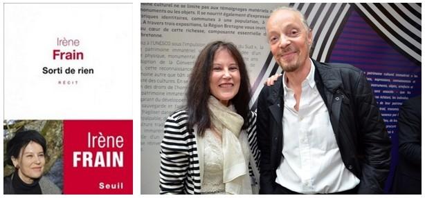 L'écrivain Irène Frain au côté du musicien breton Alan Stivell lors de la remise du Prix Bretagne-Breizh 2014 (Crédit photo David Raynal)