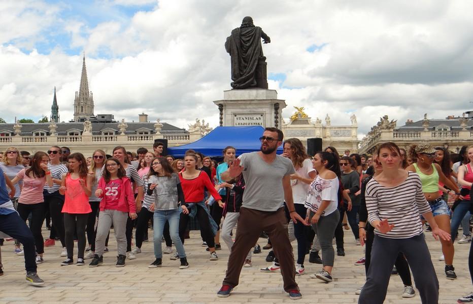 Représentation finale sur la célèbre place nancéienne Stanislas.  (Crédit photo : Bertrand Munier)