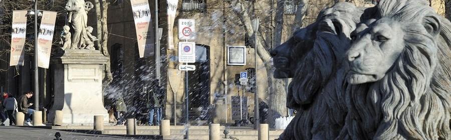 Statues Cours Mirabeau à Aix (Crédit photo DR)