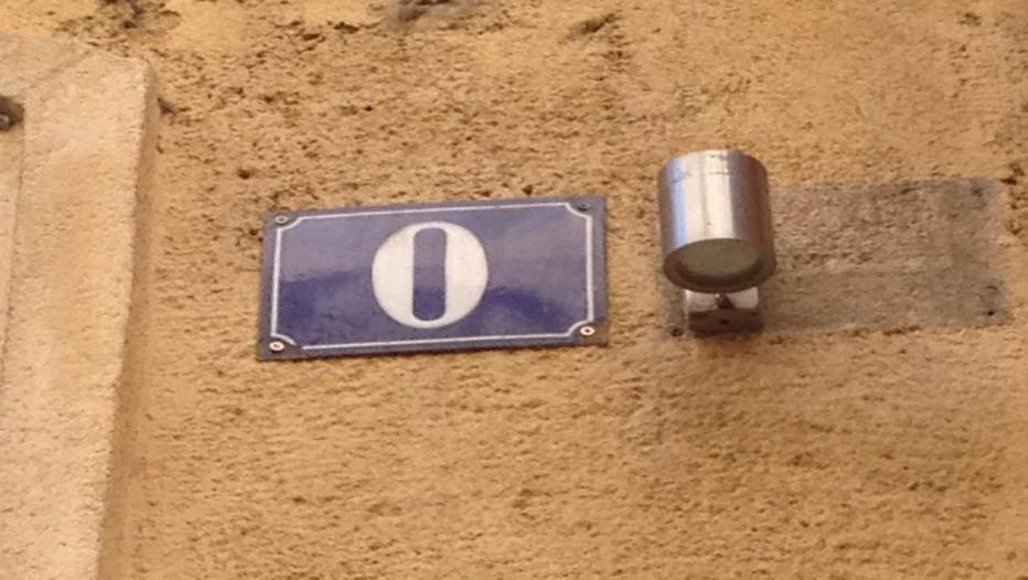 En France un numéro zéro existe bien et se situe dans la belle ville d'Aix-en-Provence, très exactement rue Paul Doumer.(Crédit photo DR)