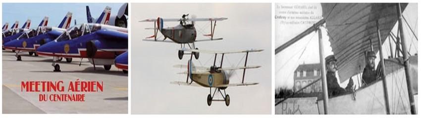 Lors du Centenaire aérien Somme 14-18 voici quelques avions petits et grands souvenirs de la Grande Guerre dont certains sont encore en état de vol et bien sûr les Mirages de la Patrouille de France.  (© DR)