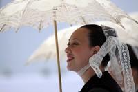Une très jolie bretonne photographiée lors du FIL 2011 (Crédit photo David Raynal)
