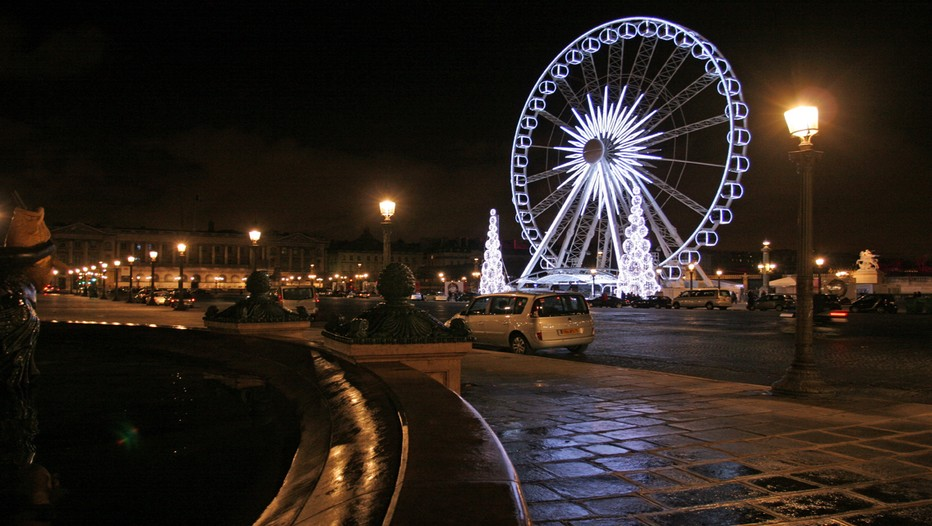 Place de la Concorde la nuit à Paris (France) - Crédit photo David Raynal)