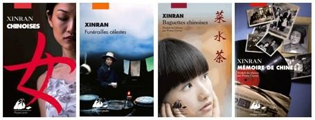 Couverture des principaux ouvrages de l'écrivaine Chinoise Xinran parus aux Editions Philippe Picquier (Crédit photo DR)