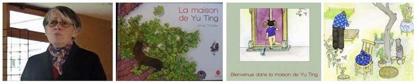 """Portrait de Anne Thiollier, couverture et illustrations de """"La maison de Yu Ting"""". Un livre qui a obtenu comme toute son oeuvre un immense succès auprès de la jeunesse  (Crédit photo DR)"""