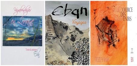 Eban est peintre,aquarelliste et écrivain. Il a  publié de nombreux ouvrages avec textes et aquarelles. On peut découvrir prochainement ses œuvres à Reims et à Narbonne.(Crédit photo DR)