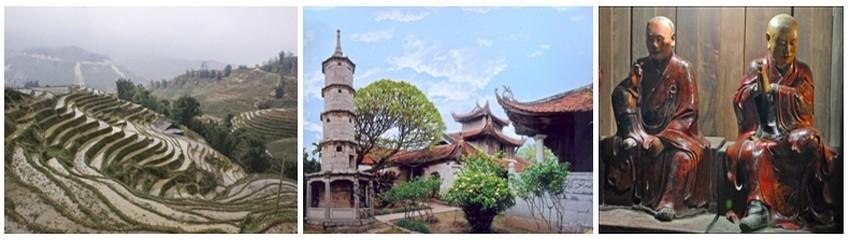 La route qui nous emmène à Dihn To, où se dresse la superbe pagode de But Thap, suit une digue qui longe la rivière Đuống (Crédit photos Yves Rinauro)