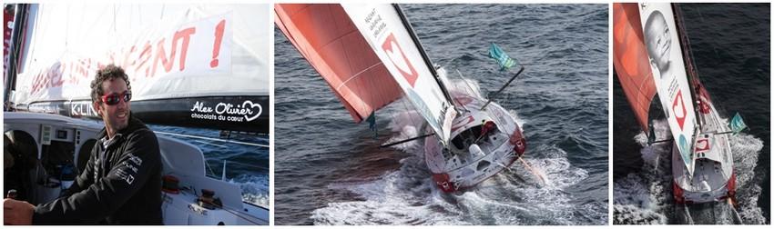 Tanguy de Lamotte est aux commandes d'un nouveau bateau de 60 pieds (18,28m) plus performant. (Crédit photos Jean-Marie Liot)