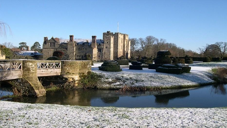 Le magnifique château de Hever Castle en hiver (Crédit photo DR)