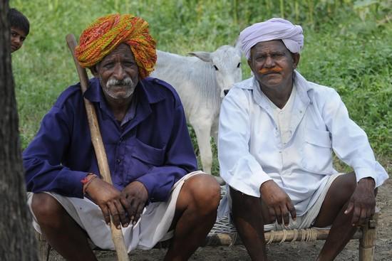 Mandu : deux hommes de la tribu Bhil (Crédit photo Fabrice Dimier)