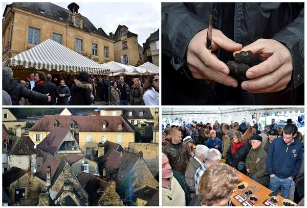 Sarlat dans tous ses états lors du Marché de la Truffe qui a lieu tous les ans et chaque mercredi de décembre à février. (Crédit photos David Raynal)