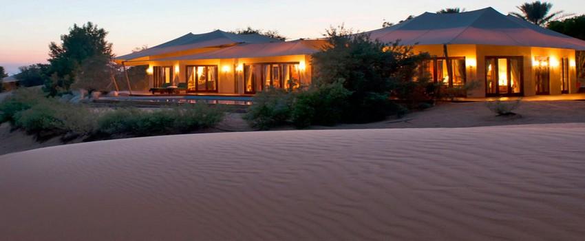 Le désert est un milieu idéal pour la santé en permettant des traitements appropriés tels que les bains de sable et les plongées thérapeutiques dans les sources d'eaux chaudes comme ici au Al Maha a Luxury un Resort et Spa à Dubaï, une oasis nichée au milieu du désert et de dunes. (Crédit photo spgpromos.com)