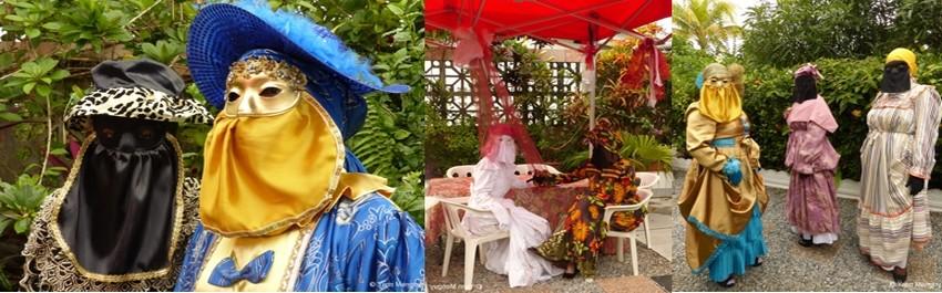 les bals parés-masqués sont un peu la revanche des femmes guyanaises, cette tradition transmise de génération en génération, perdure aussi pour le plus grand plaisir des hommes. (Crédit photos Yann Menguy)