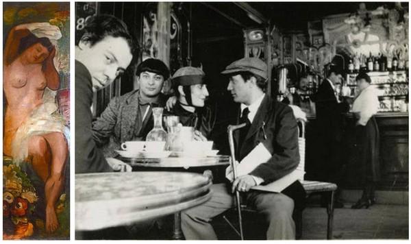 """David Seifert (1896-1980) faisait partie de la trentaine de peintres qui ont peint pour son inauguration le 20 décembre 1927, un des pilastres de la brasserie la Coupole et fondateurs des """"peintres aux cafés"""" (© DR)"""