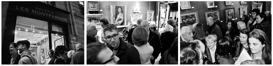 Vernissage de l'exposition des oeuvres de David Seifert à la Galerie parisienne Les Montparnos. Exposition à voir jusqu'au 4 Juin 2015 (© Juliette et David Raynal)