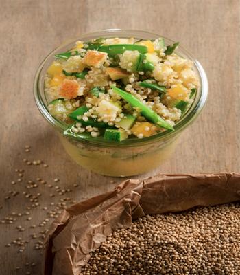 """Ekki propose une salade au quinoa belge """" La Bruyère"""" (Crédit photo Catherine Gary)"""