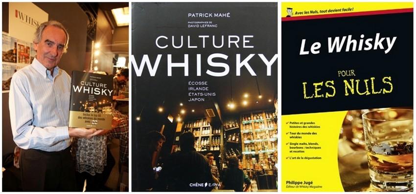 """Patrick Mahé présente son livre """"Culture Whisky"""";  Couverture du livre """"Le Whisky pour les nuls"""" de Philippe Jugé (Crédit photos DR)"""