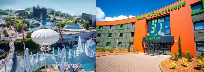 Offre de 13 hôtels de 1* à 4* dont l'Hôtel du Futuroscope qui présente l'avantage d'un accès direct sur le parc. (© Futuroscope JL.Audy)