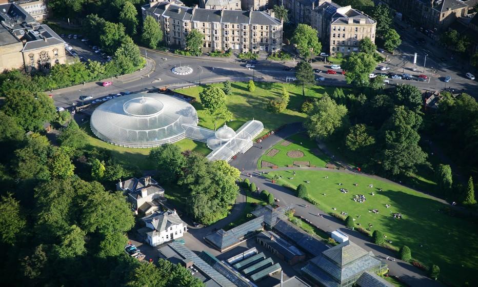 L'immense jardin botanique situé en plein centre ville de Glasgow la capitale écossaise.  (Crédit photo www.visitscotland.com/Ecosse)