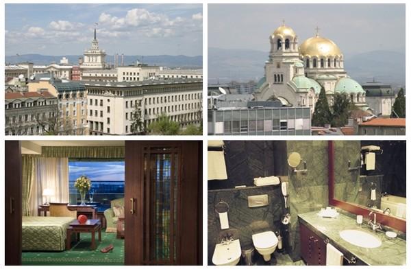 Des fenêtres du Grand Hotel Sofia des vues admirables dont l'une sur la magnifique cathédrale Alexandre-Nevski , une cathédrale orthodoxe de style néo-byzantin (Crédit photos DR)