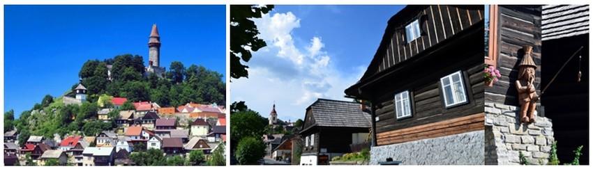 Au détour d'une route verdoyante surgit bientôt Štramberk, surnommée par ses nombreux admirateurs la Bethléem de Valašsko, en raison de ses ruelles élégantes et la beauté de ses maisons de bois des 18e et 19e siècles.   ©  David Raynal