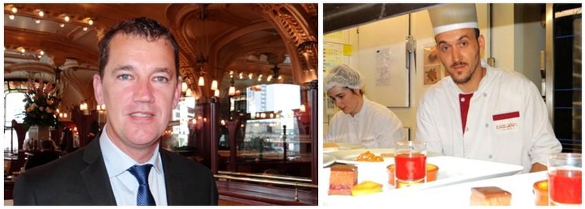 Éric Gérard l'affable directeur de la brasserie. Georges Mercier, le second de Jacques Hildenbrand. .©  Bertrand Munier