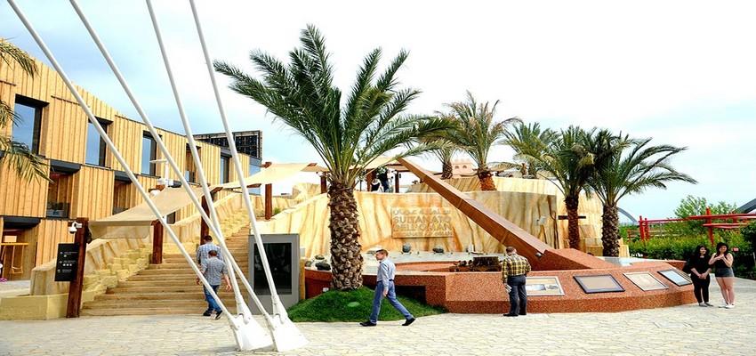 L'une des façades du pavillon du Sultanat d'Oman construit dans le cadre du l'Expo Milano 2015 (Crédit photo DR)