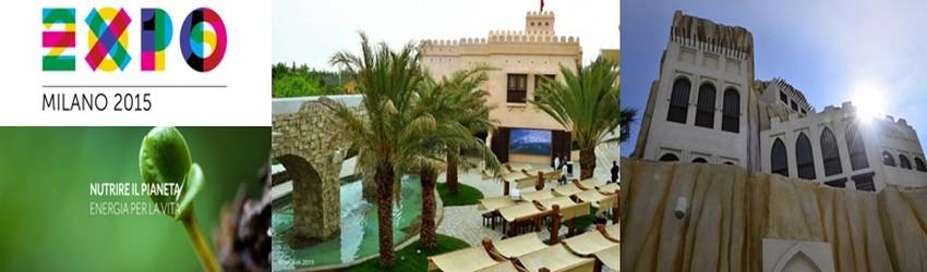 Le pavillon omanais de 3000m²  dressé sur le site de l'exposition universelle a pour but d'expliquer comment les habitants du Sultanat gèrent et surveillent l'eau pour assurer les productions alimentaires du pays (Crédit photos DR).