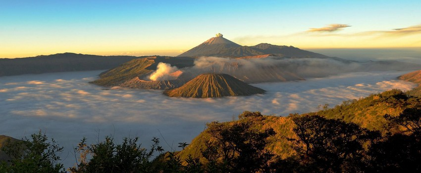 Vue sur le volcan  Bromo à Java (Indonésie) (Crédit photo DR)