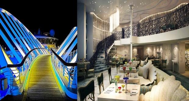 Les passagers retrouveront les traditionnelles zones promenade. Harmony of the Seas proposera également un véritable voyage culinaire grâce à un kaléidoscope de saveurs parmi un grand choix de restaurants et d'options : Izumi Hibachi & Sushi, Sabor Taqueria et Tequila Bar;