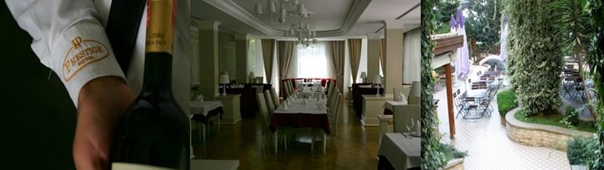 Les vins du sud de l'Albanie, comme par exemple le Domaine Viticole Egnatia du propriétaire de l'hôtel, se partagent la vedette avec les vins Italiens.  © Richard Bayon.