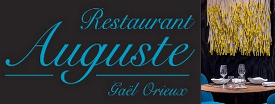 Logo du restaurant de Gaël Orieux; œuvre du plasticien Christian Astuguevieille;  © DR