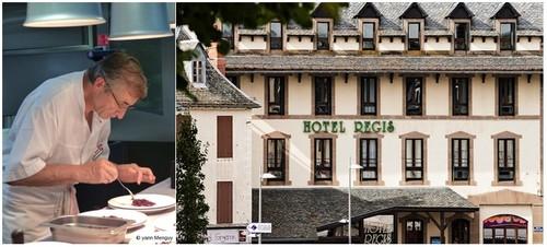 Le grand chef Michel Bras en pleine activité  © Yann Menguy ; Le très bel Hôtel Regis situé à Laguiole.  © DR