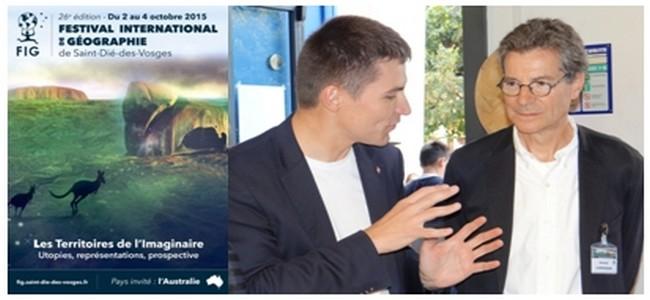 L'Affiche de la 26ème édition du Fig ; Le maire déodatien David Valence (à gauche) et  François Compagnon président de l'édition 2015. © Bertrand Munier